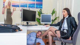 Ofiste Kaçamak Yapan Sapık Ruhlu Dazlak Boş Durmuyor